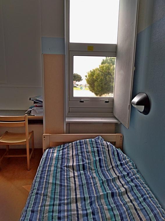Chambre d'internat avec vue Mer.