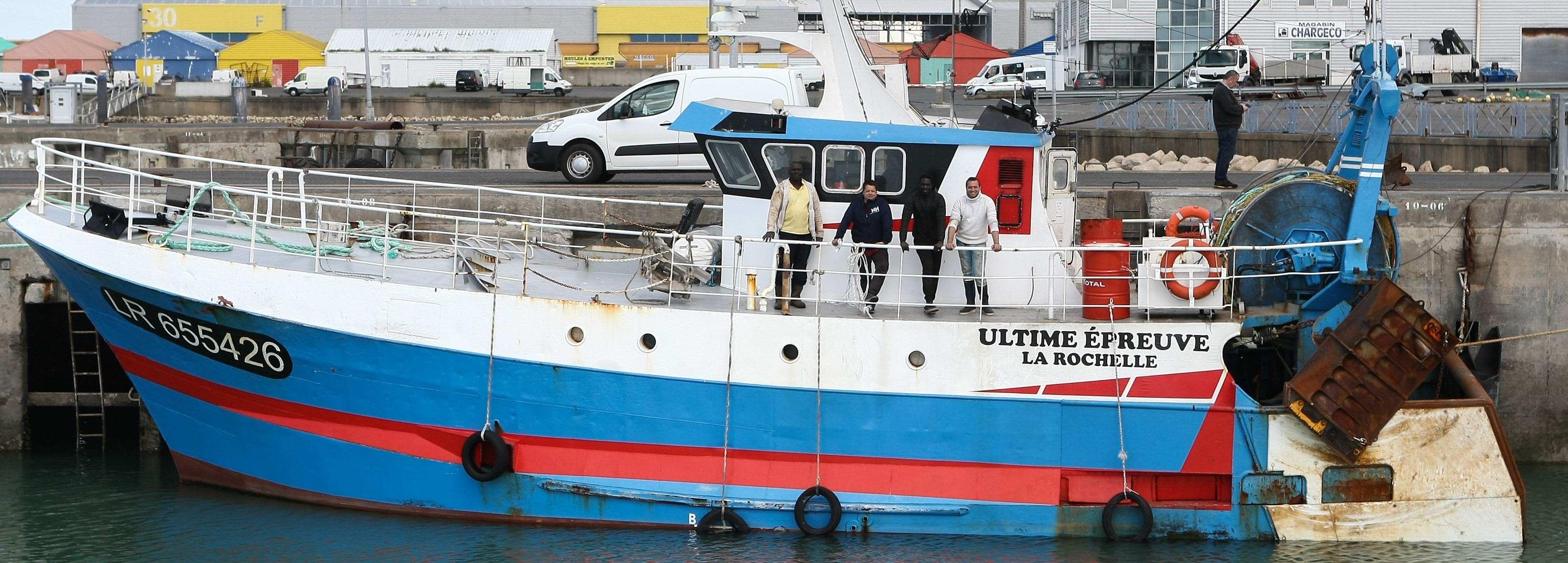 Chalutier L'Ultime Épreuve, port de pêche de La Rochelle. Photo Romuald Augé - FROM Sud-Ouest.