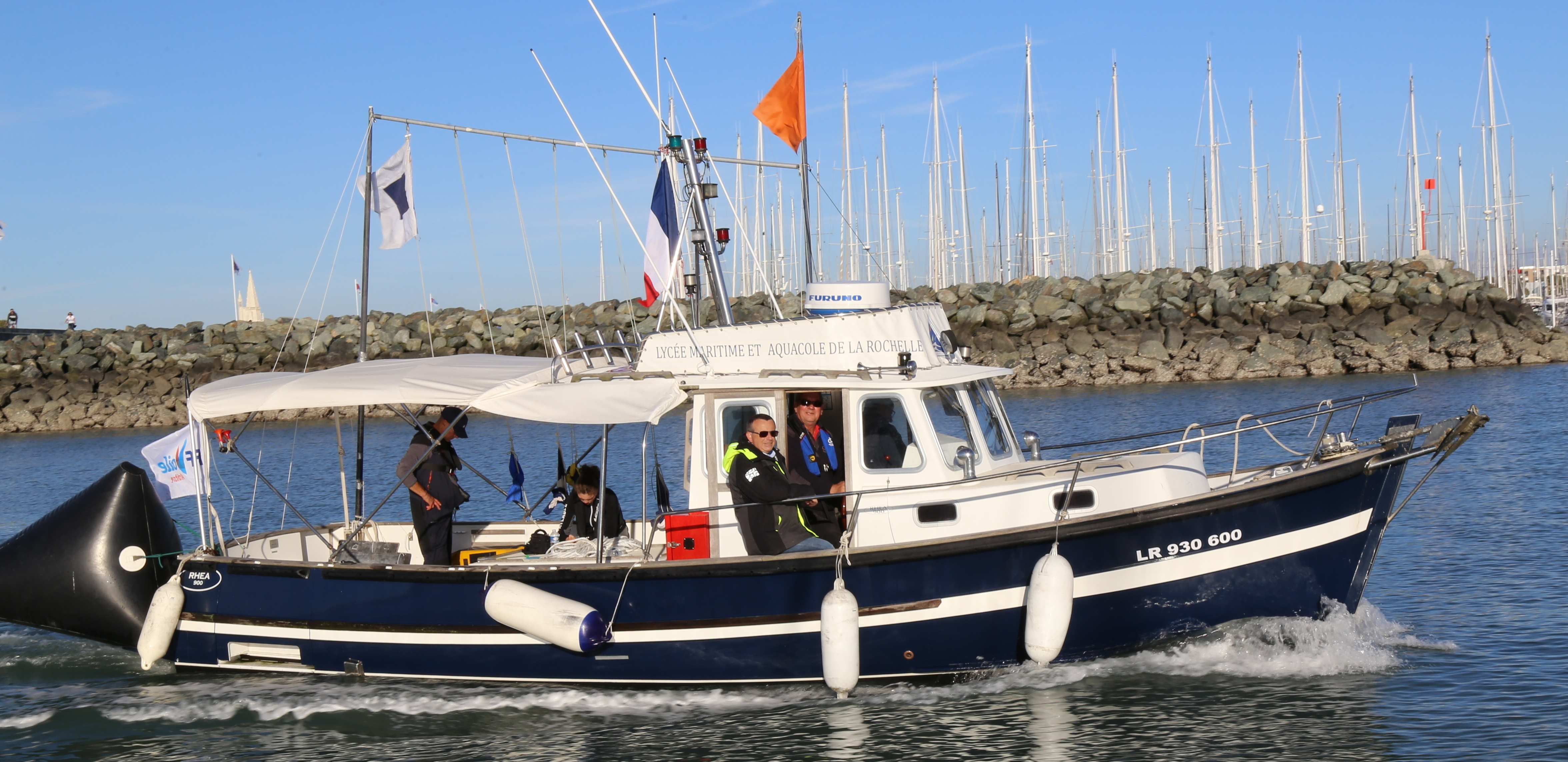 Le Poitou-Charentes II, navire-école du LMA. Photo Jacky Grange - LMA La Rochelle.