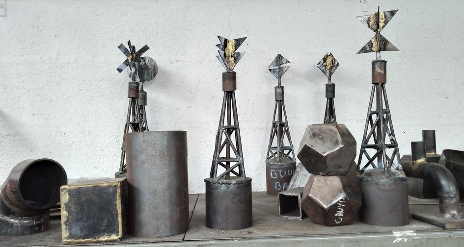 Pièces d'ateliers réalisées par les élèves. Photo PY Larrieu - LMA La Rochelle.