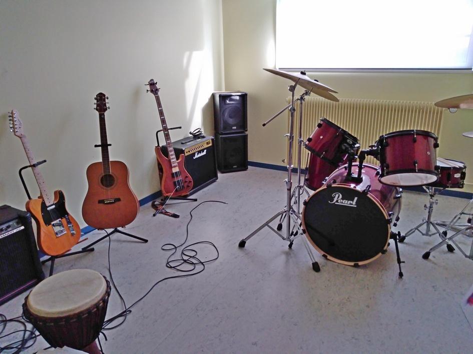 La salle de Musique insonorisée. Photo PY Larrieu - LMA La Rochelle.