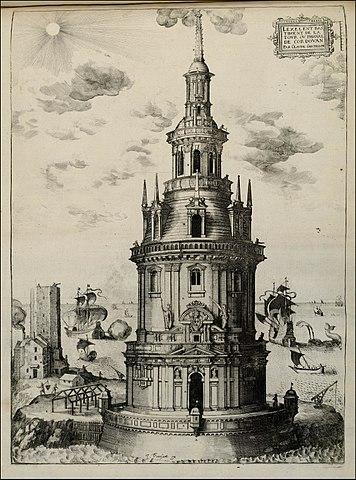 Dessin 1655 - phare de Cordouan